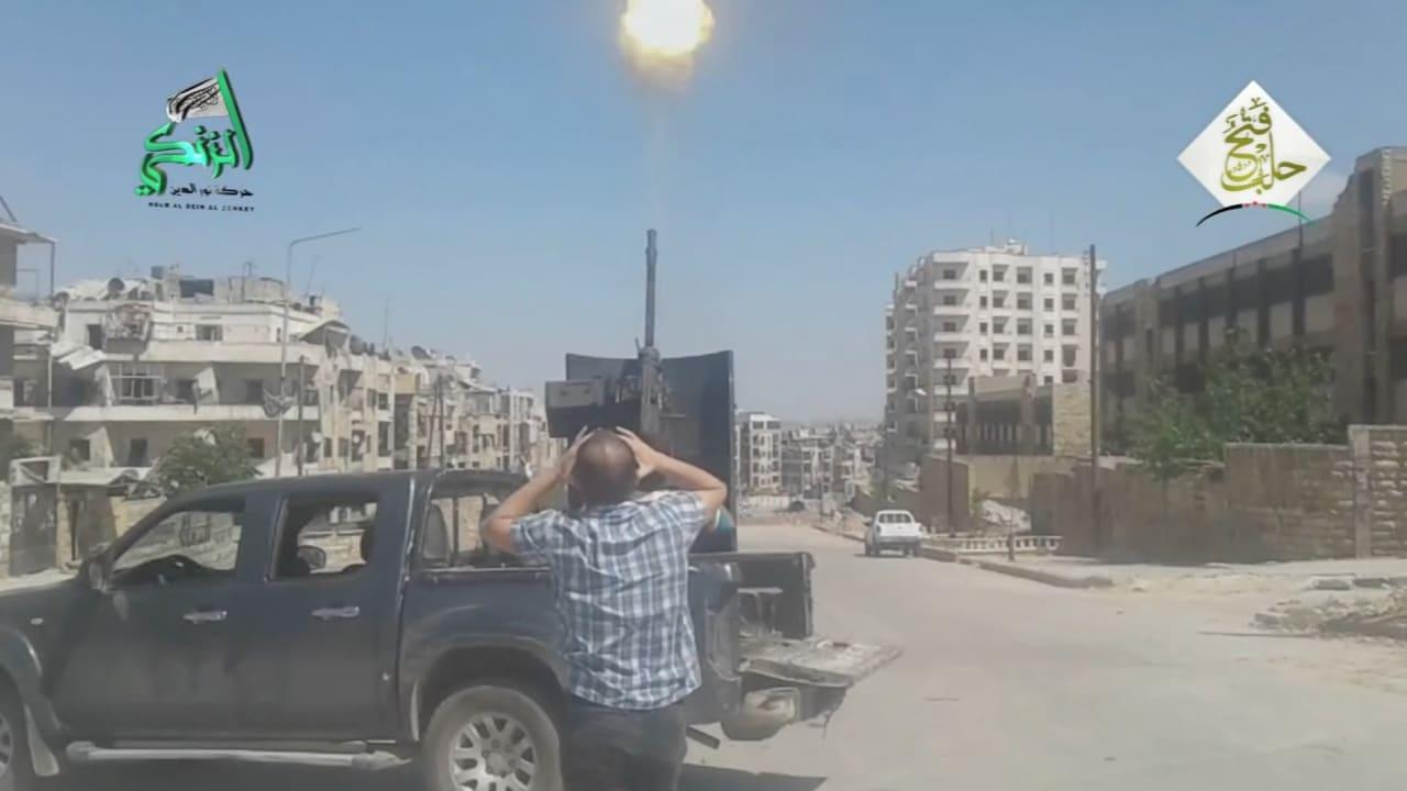 بالفيديو: مشاهد من المعارك في حلب