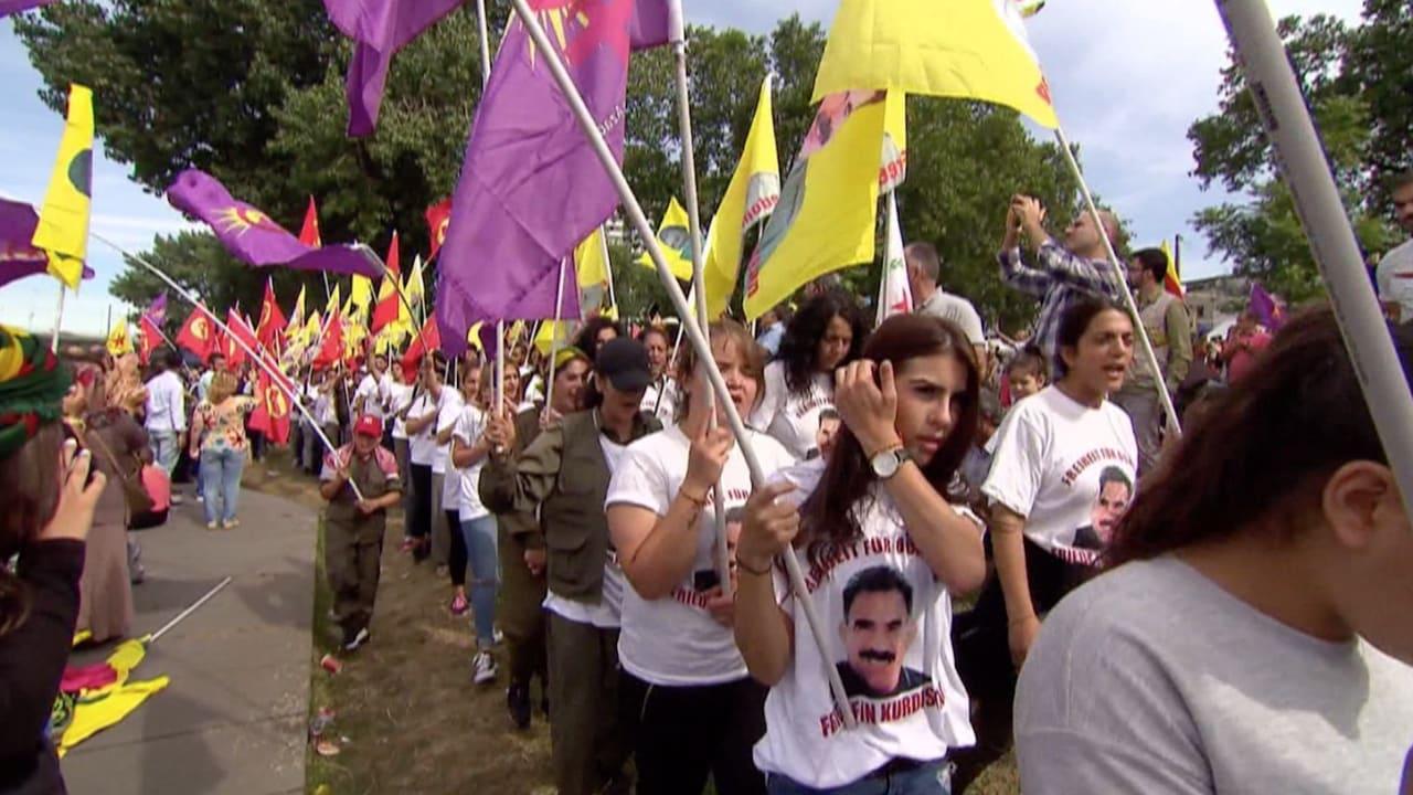 آلاف الأكراد يتظاهرون في ألمانيا ضد سياسات الحكومة التركية
