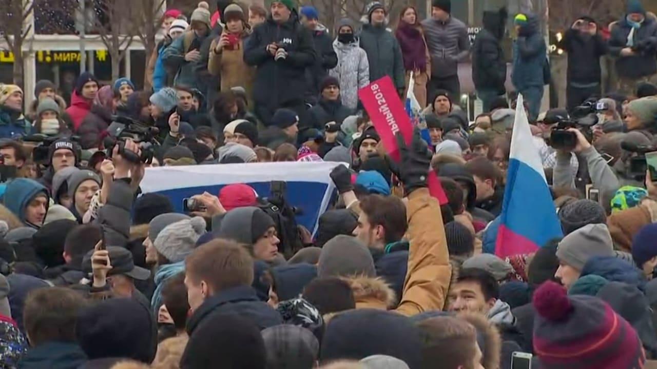 مظاهرات في روسيا بعد اعتقال الزعيم المعارض نافالني