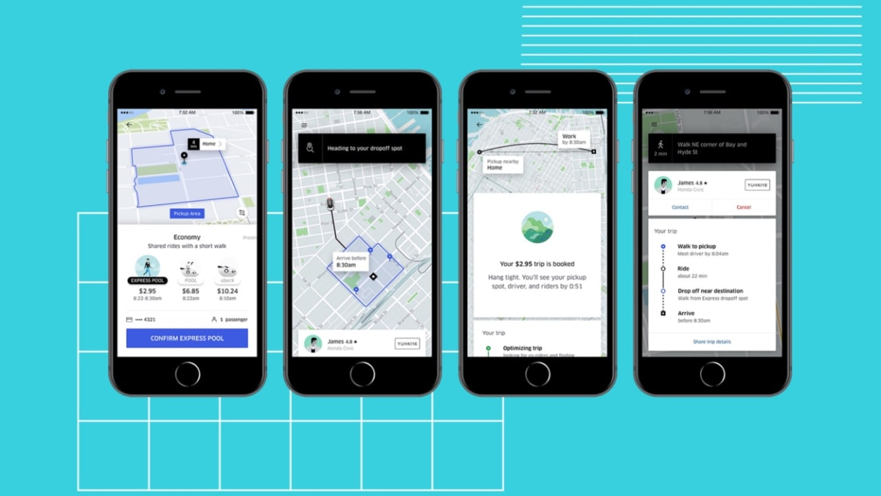شركة أوبر تتنافس مع حافلات المدينة