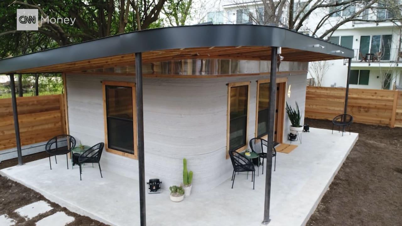 شاهد هذا المنزل المبني بالكامل بطابعة ثلاثية الأبعاد