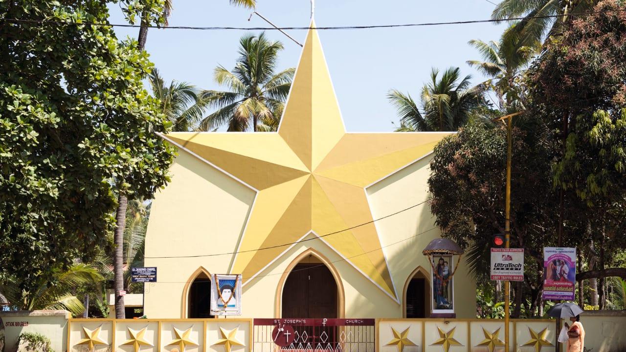 """كنيسة """"سانت جوزيف"""" في كيرلا."""