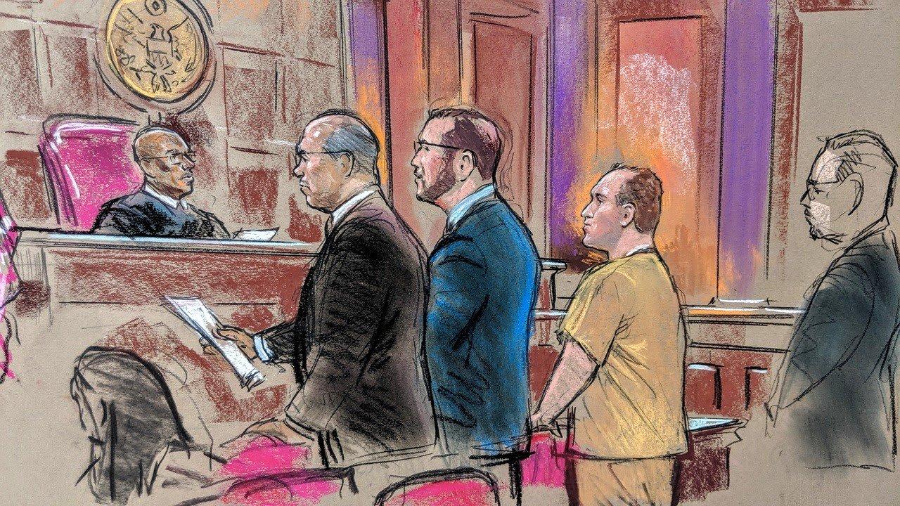 صورة أرشيفية من إحدى جلسات محاكمة جورج نادر