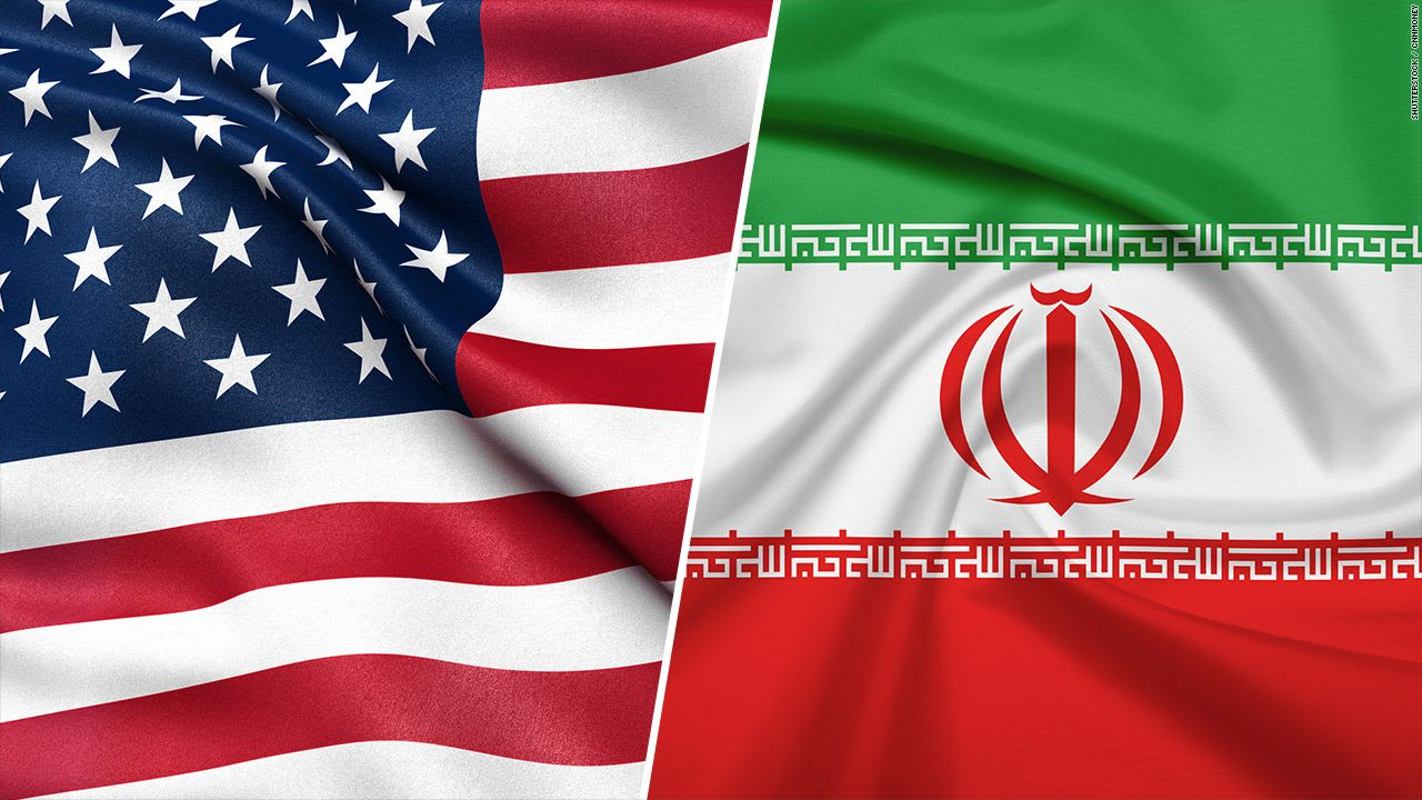 iran and US flags