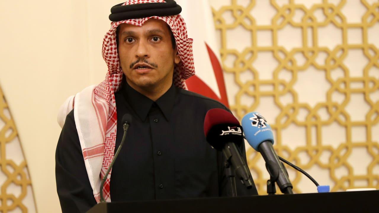 صورة أرشيفية لوزير خارجية قطر الشيخ محمد بن عبدالرحمن