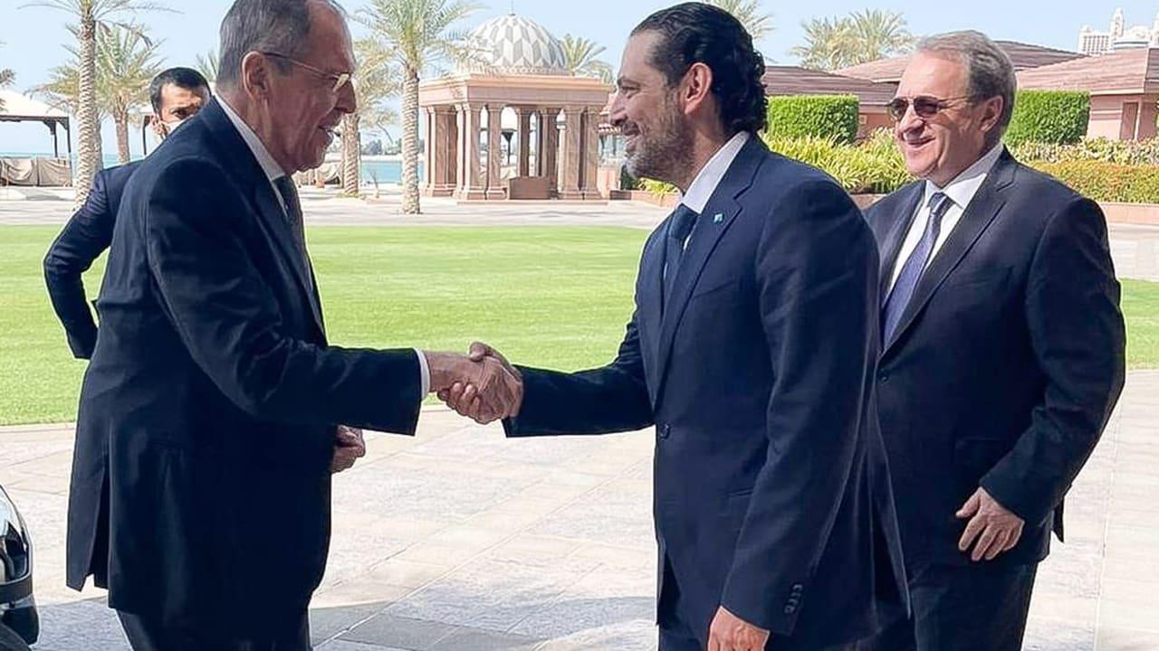 الحريري يلتقي لافروف في الإمارات