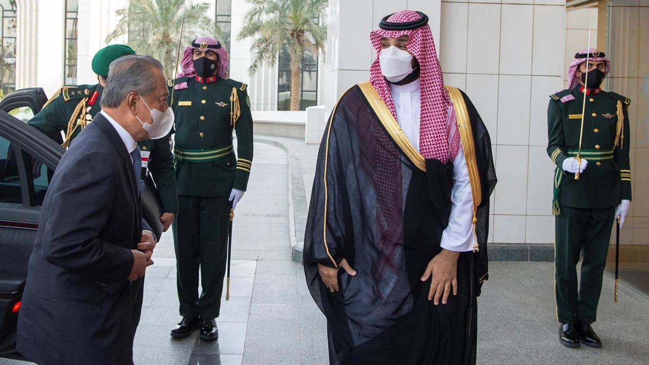 محمد بن سلمان يستقبل رئيس وزراء ماليزيا محيي الدين ياسين