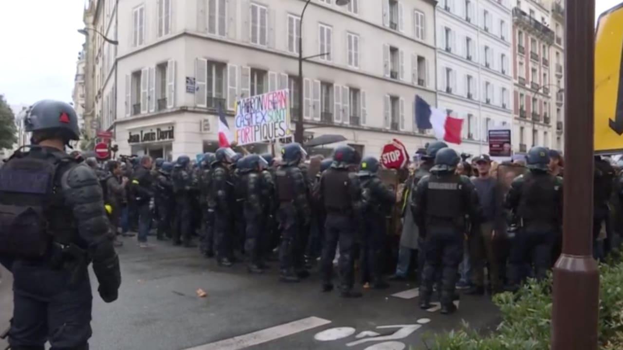 احتجاجات متواصلة في فرنسا للأسبوع الرابع بسبب التصريح الصحي الإلزامي لكورونا