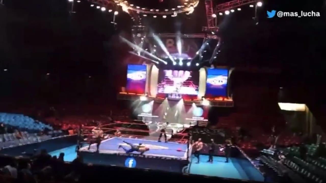 شاهد لحظة وقوع زلزال قوي أثناء مباراة مصارعة في المكسيك