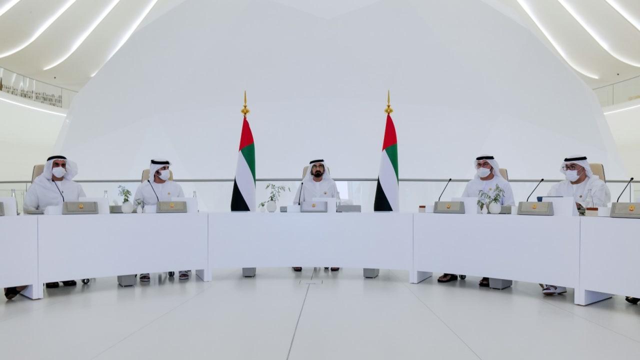 مجلس الوزراء الاماراتي يعقد جلسة أٌقيمت في إكسبو 2020 دبي.