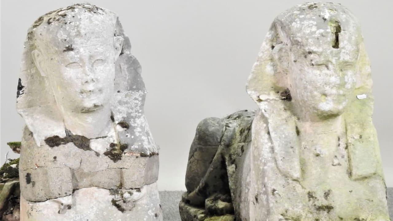 لقاء 265 ألف دولار بيعت منحوتتان زيّنتا حديقة لـ15 سنة تبيّن أنهما آثار مصرية قديمة