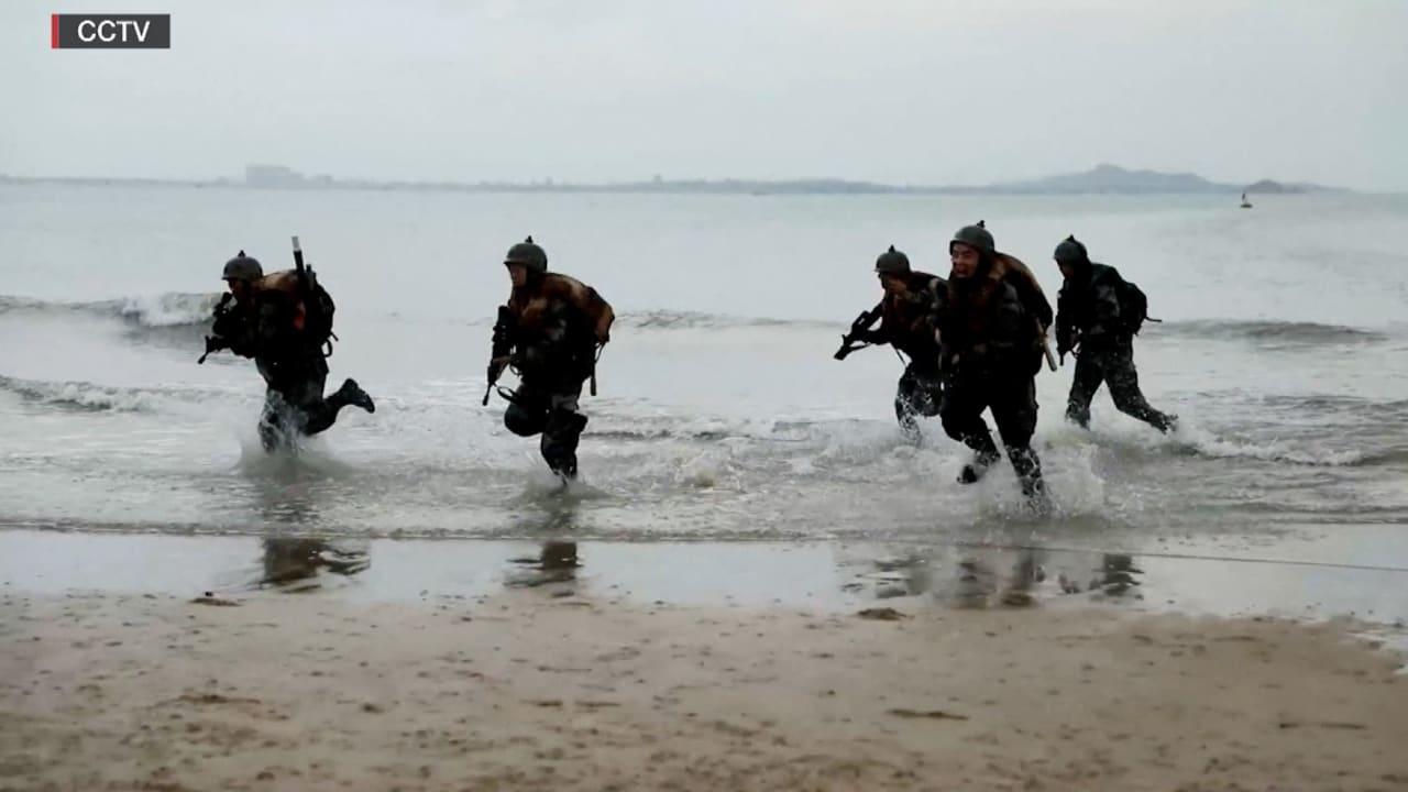 فيديو دعائي لتدريب الجيش الصيني على غزو تايوان.. وتحذير منها لتدخل الولايات المتحدة