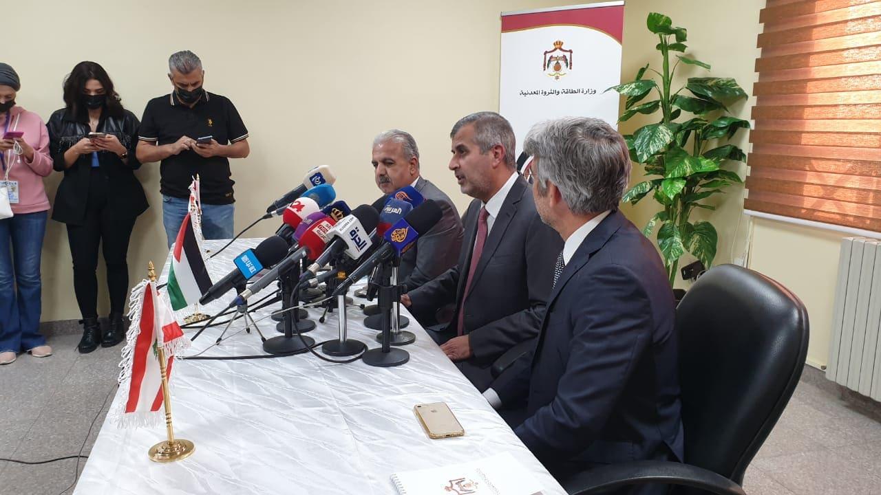صورة تجمع الوزراء المعنيين بالكهرباء من لبنان والاردن وسوريا