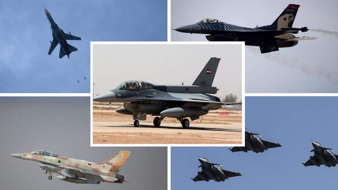 تركيا تتصدر والسعودية تسبق إسرائيل وإيران من حيث القوة الجوية