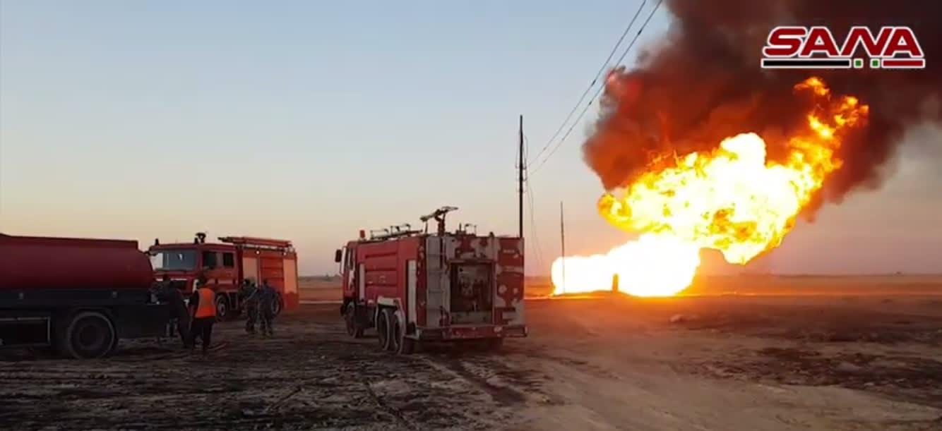 انفجار في خط الغاز بريف دمشق يتسبب في انقطاع الكهرباء في سوريا