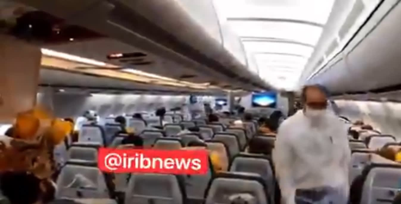 طائرة الركاب الإيرانية التي اعترضتها مقاتلتان أمريكيتان في الأجواء السورية