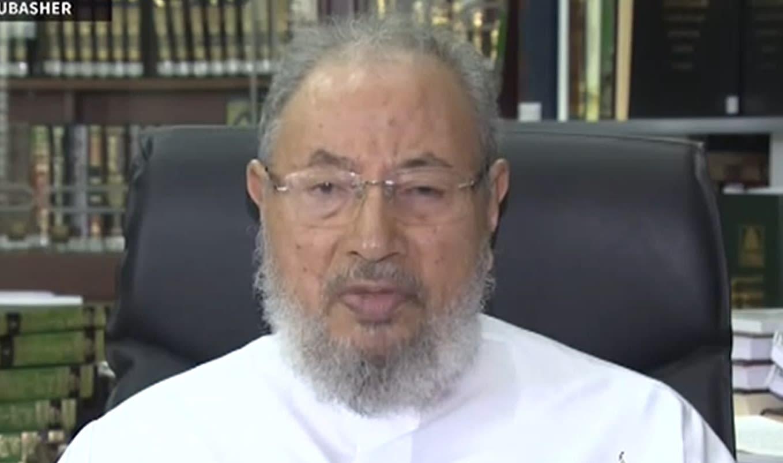 """القرضاوي تعليقا على حكم اعدامه: قضية لفقها رجال الأمن.. والقضاء أصبح """"مهزلة"""""""