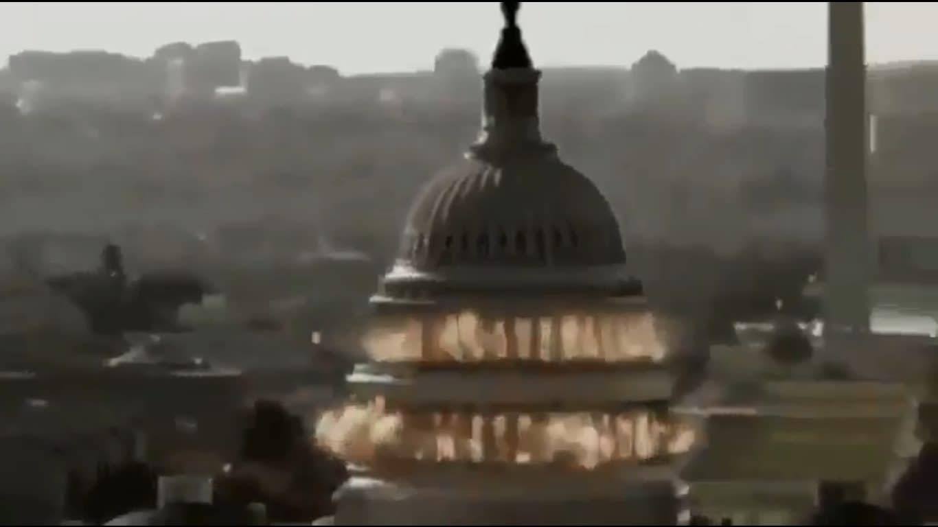 صورة من مشاهد تمثيلية إيرانية حول اقتحاب البيت الأبيض