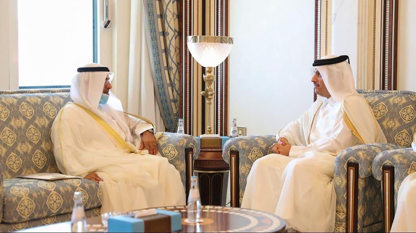 وزير خارجية قطر يستقبل لأمين العام لمجلس التعاون الخليجي