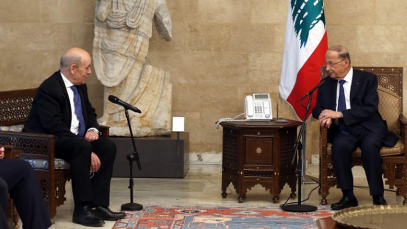 عون يستقبل وزير خارجية فرنسا