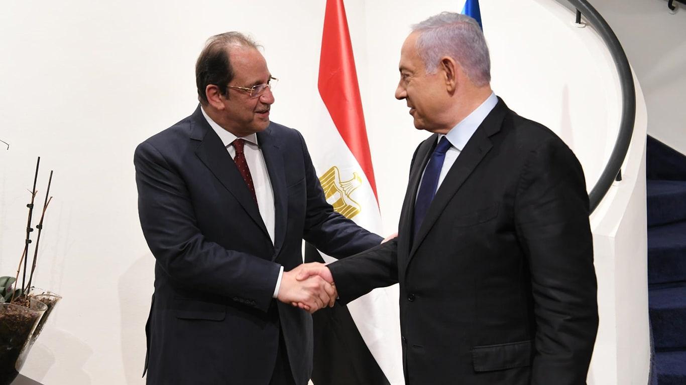 نتنياهو يستقبل عباس كامل رئيس المخابرات المصرية