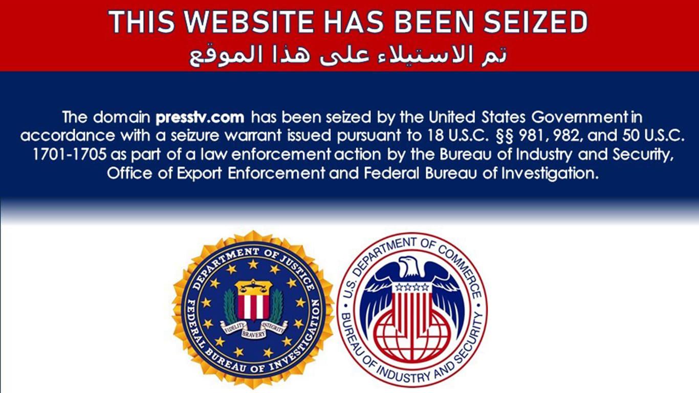 """أمريكا تحجب عشرات المواقع الإيرانية بينها قناة """"العالم"""" و""""برس تي في"""""""