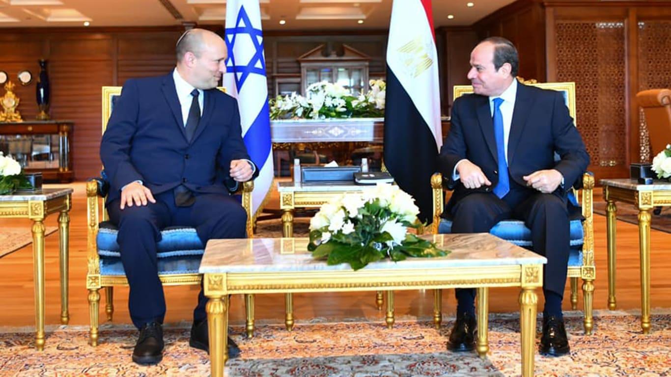 السيسي يلتقي رئيس وزراء إسرائيل