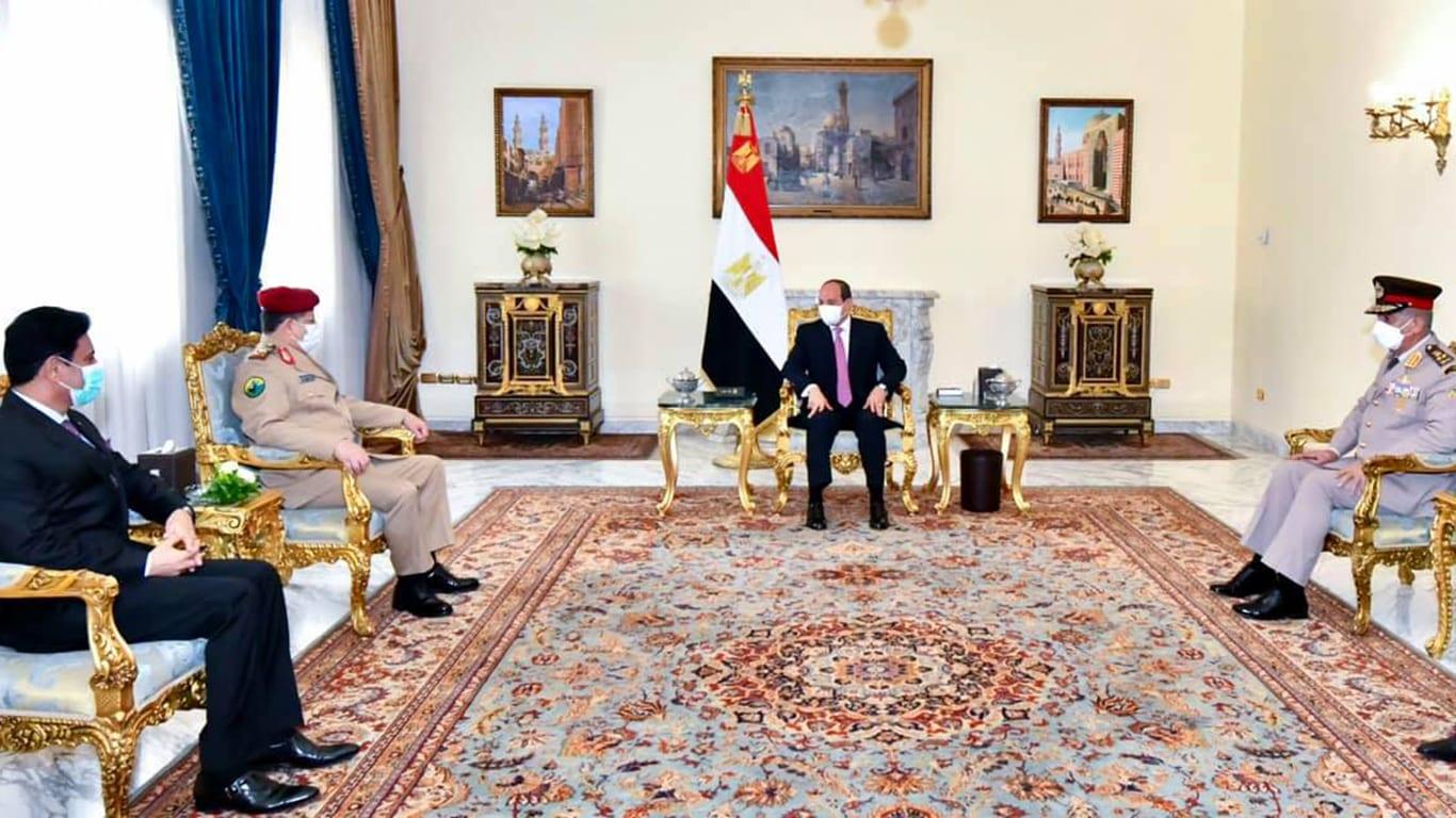 السيسي يستقبل المقدشي: مصر لن تدخر جهدا لمساعدة اليمن