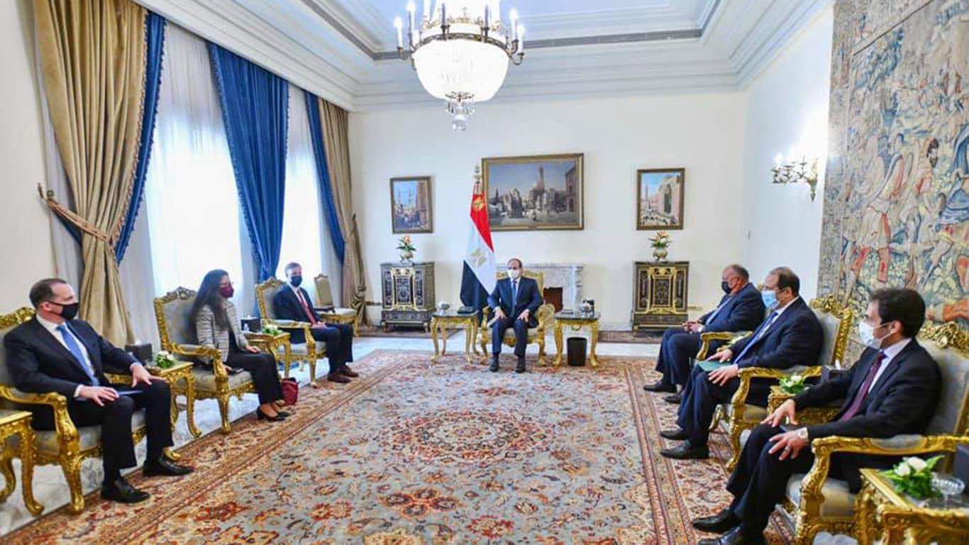الرئاسة المصرية تعلن تفاصيل لقاء السيسي ومستشار الأمن القومي الأمريكي