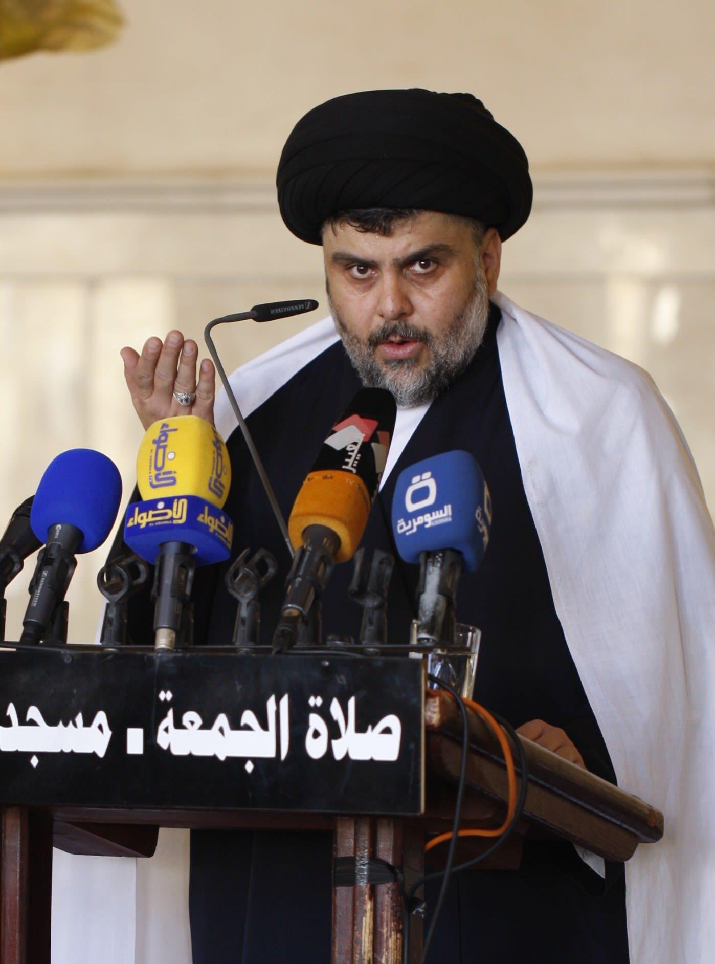 """الصدر يهاجم """"المليشيات الوقحة"""" المقاتلة إلى جانب حكومة بغداد: يذبحون ويعتدون ويشوهون سمعة الشيعة"""