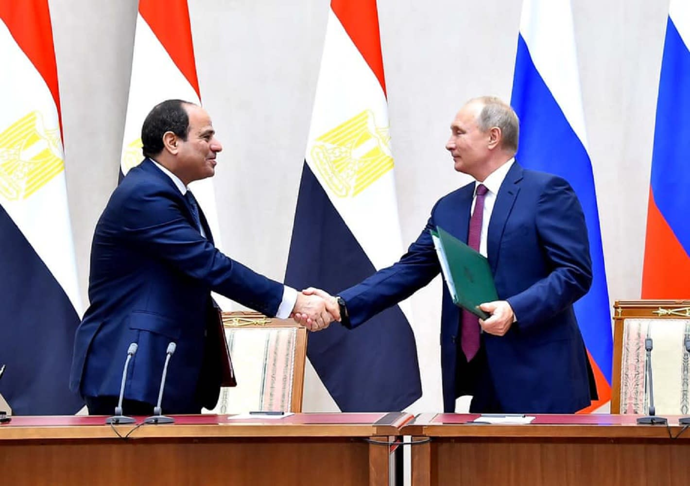 """السيسي يستعرض """"النجاحات الكبيرة"""" لـ""""سيناء 2018"""" مع بوتين"""