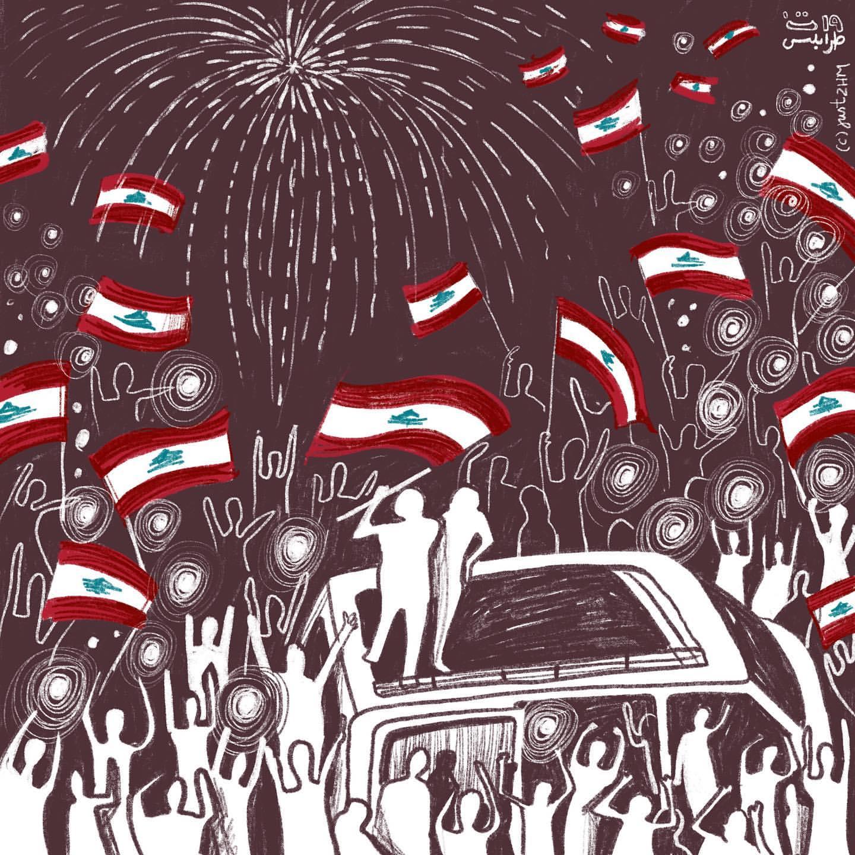 بتصاميم ملهمة وأخرى وطنية.. هذه أبرز مظاهر الاحتجاجات اللبنانية