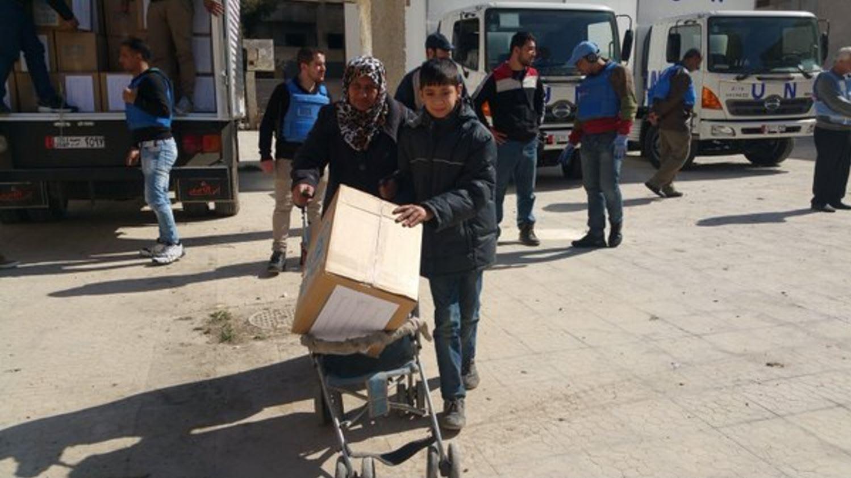 أورونا: أرسلنا الإغاثات إلى دمشق المحاصرة لأول مرة منذ 9 أشهر