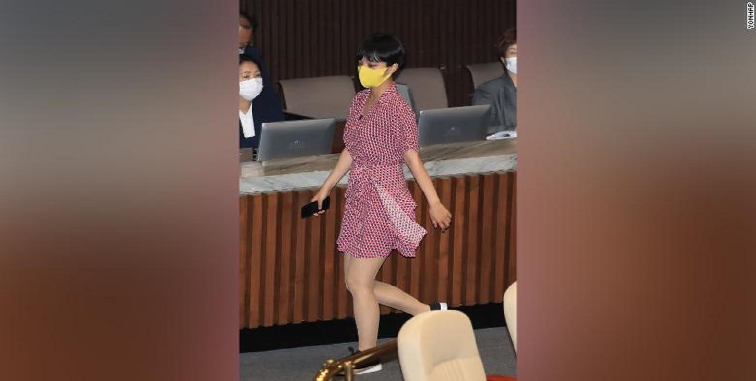 ارتدت فستانا.. مُشرعة تتعرض للهجوم بسبب ملابسها في برلمان كوريا الجنوبية