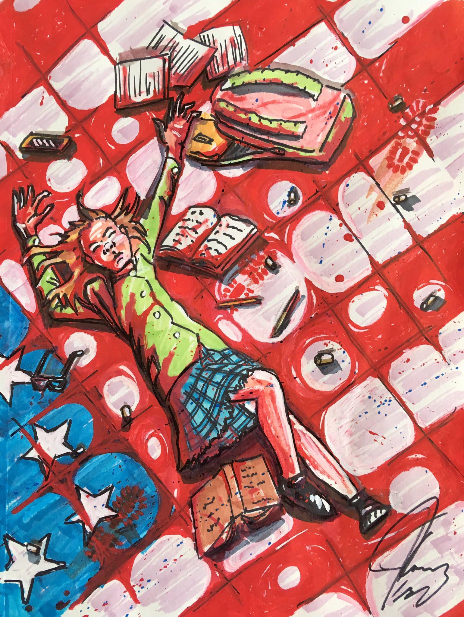 ما الذي تعكسه الرسومات السياسية للممثل الكوميدي جيم كاري؟