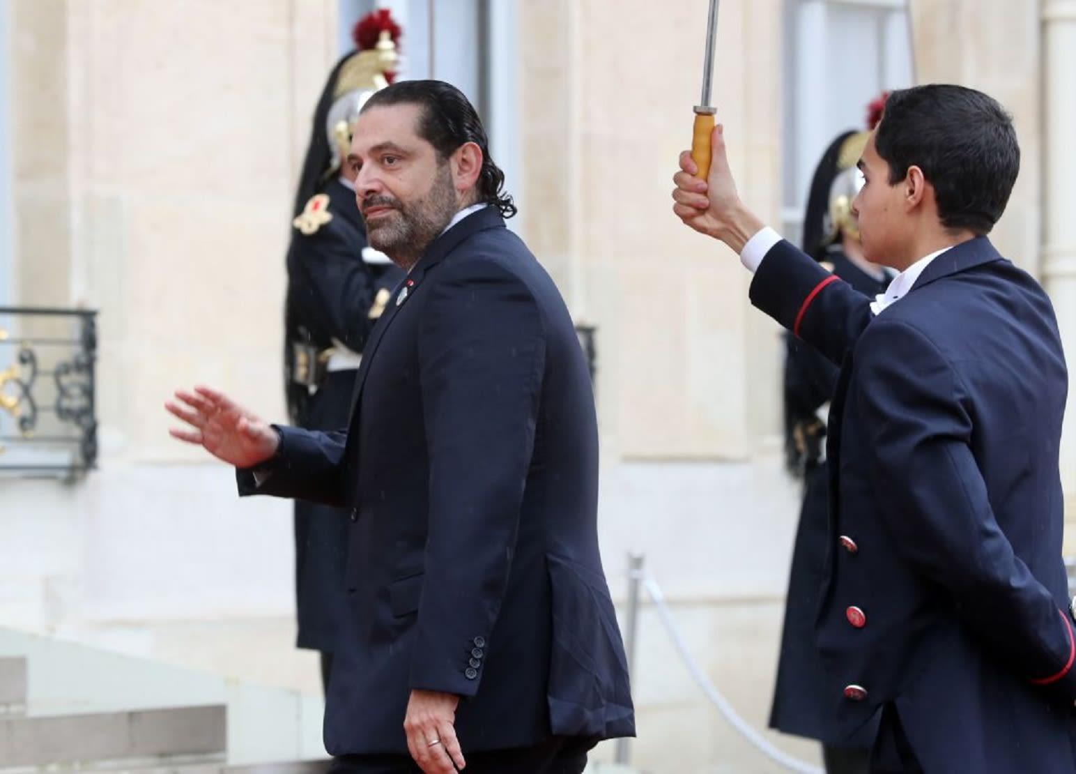 الحريري ينشر صورته مع أمير قطر خلال غداء أقامه ماكرون