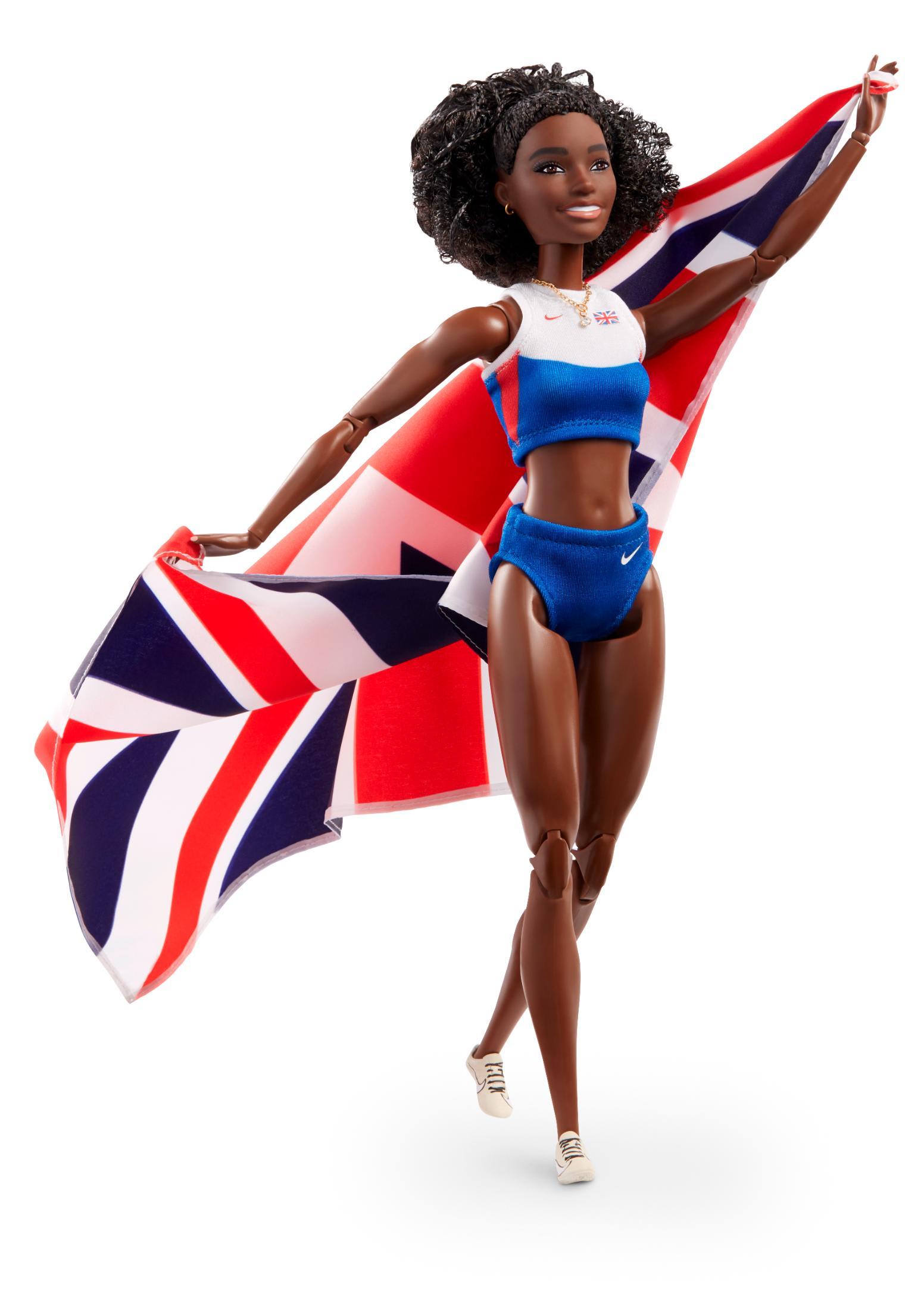 """""""باربي"""" تطلق دمية جديدة على هيئة أسرع امرأة في بريطانيا"""