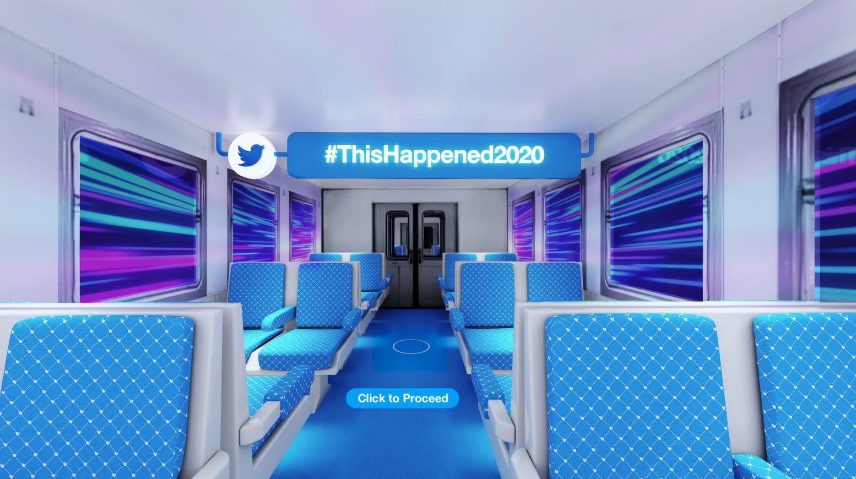 صورة من الحفل الافتراضي الذي أقامه موقع تويتر بمناسبة نهاية 2020
