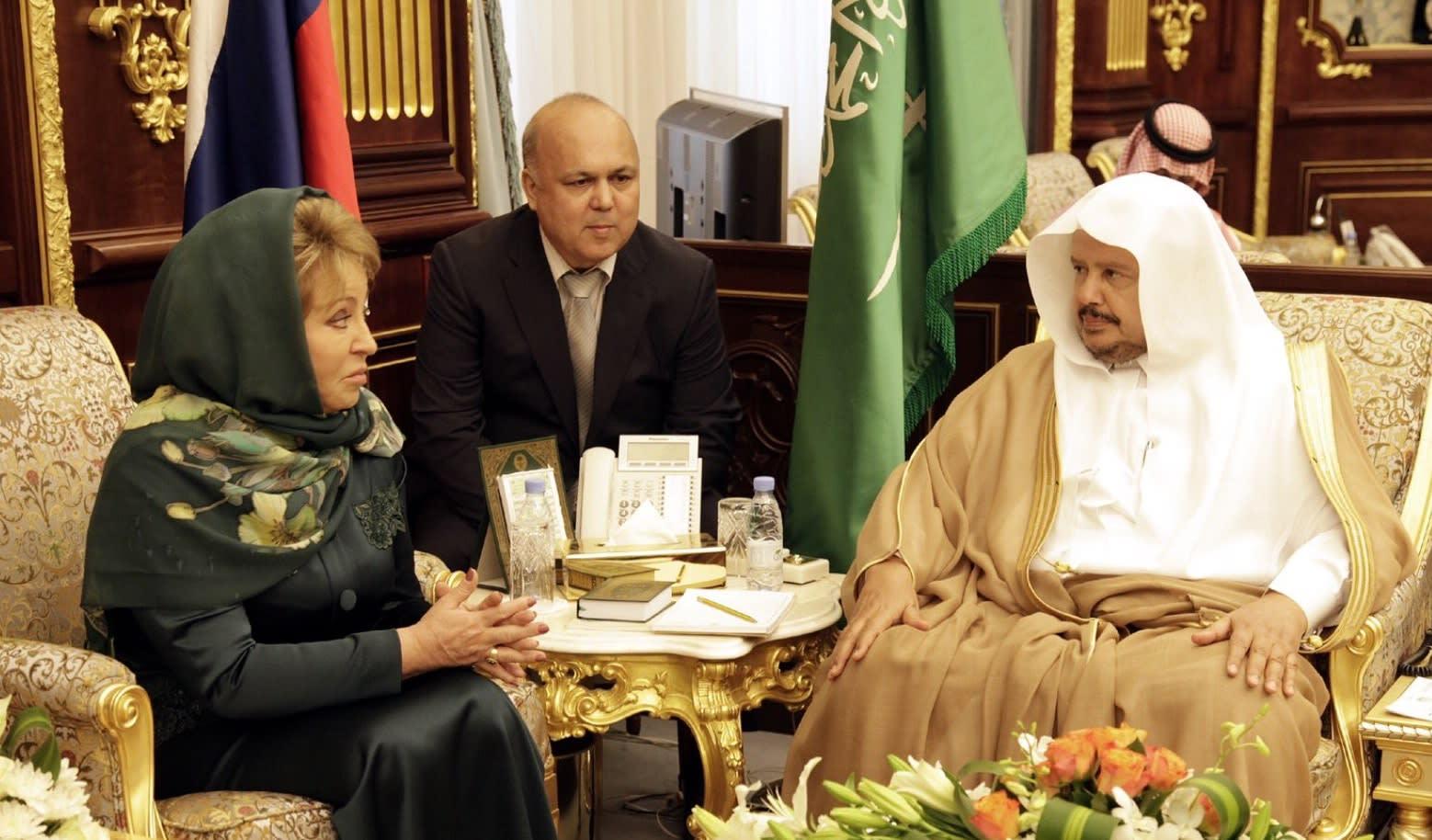 رئيسة الشيوخ الروسي بعد لقائها رئيس مجلس الشورى السعودي: نعتز بعلاقاتنا مع المملكة
