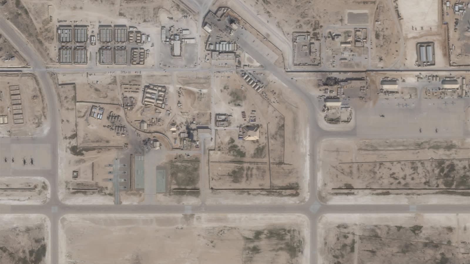 لقطات أقمار صناعية تُظهر حجم الأضرار بقاعدة عين الأسد عقب القصف الإيراني