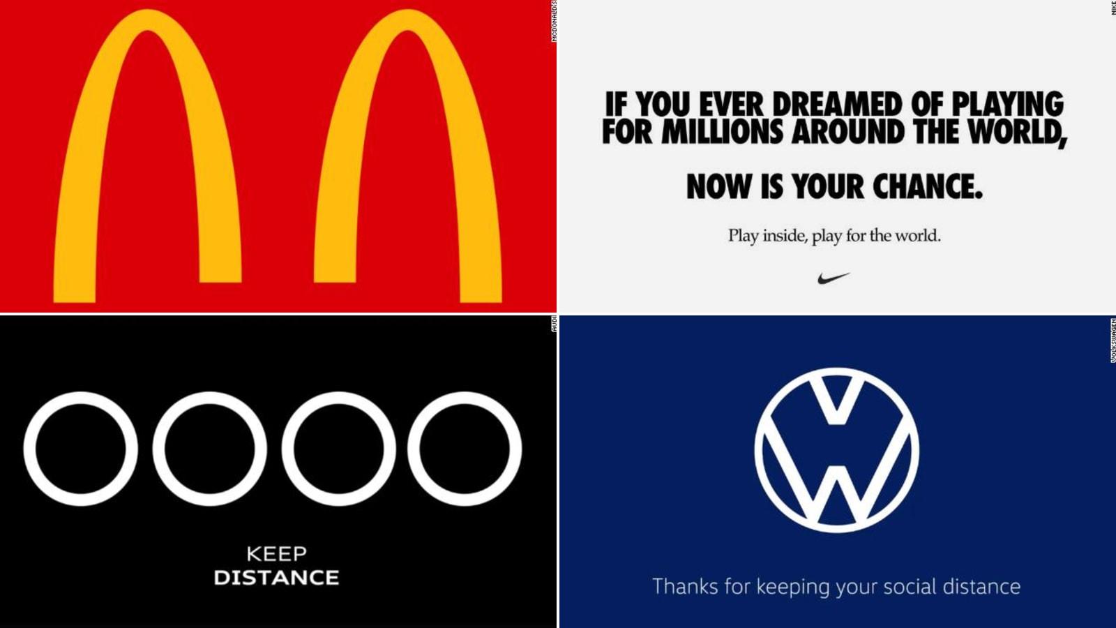 من بينها ماكدونالدز وأودي وفولكسفاغن.. علامات تجارية تغير شعاراتها لتشجيع التباعد الاجتماعي