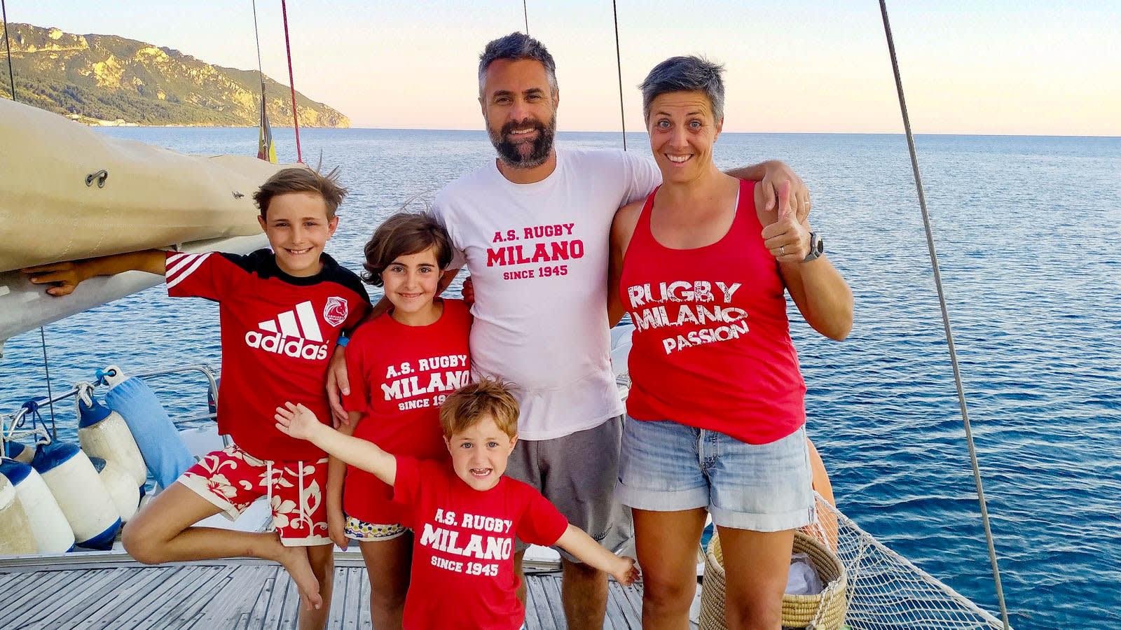 رغم إيقاف كورونا لمعظم المغامرات.. لا تزال هذه العائلة الإيطالية تستعد لرحلة بحرية ملحمية