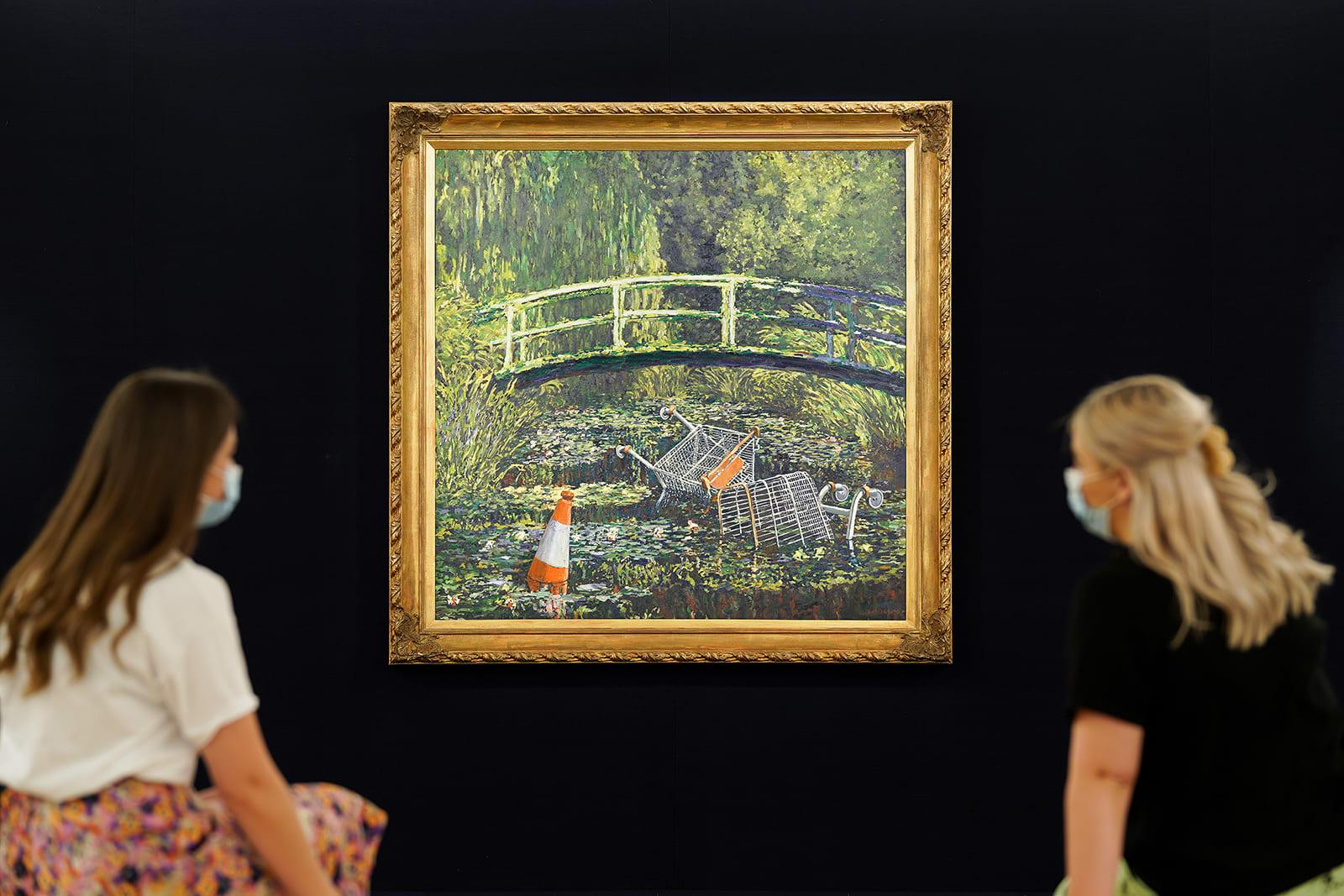 لوحة لبانكسي تُباع مقابل 10 مليون دولار تقريباً