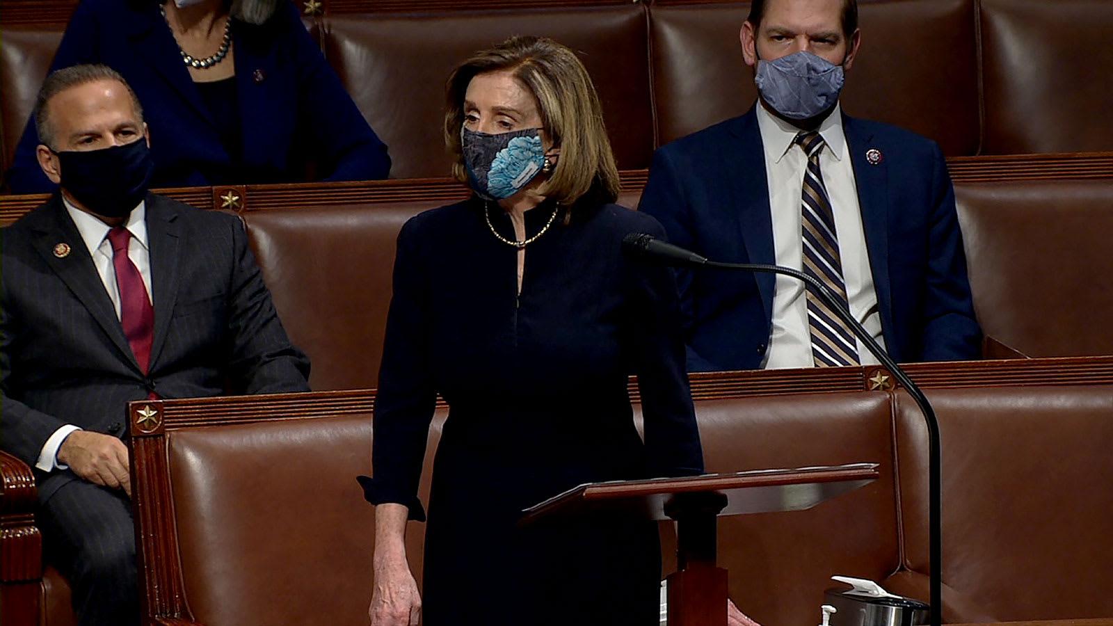 """بيلوسي تفتتح مساءلة ترامب في مجلس النواب: يشكل """"خطرا واضحاً وقائماً"""" على أمريكا"""