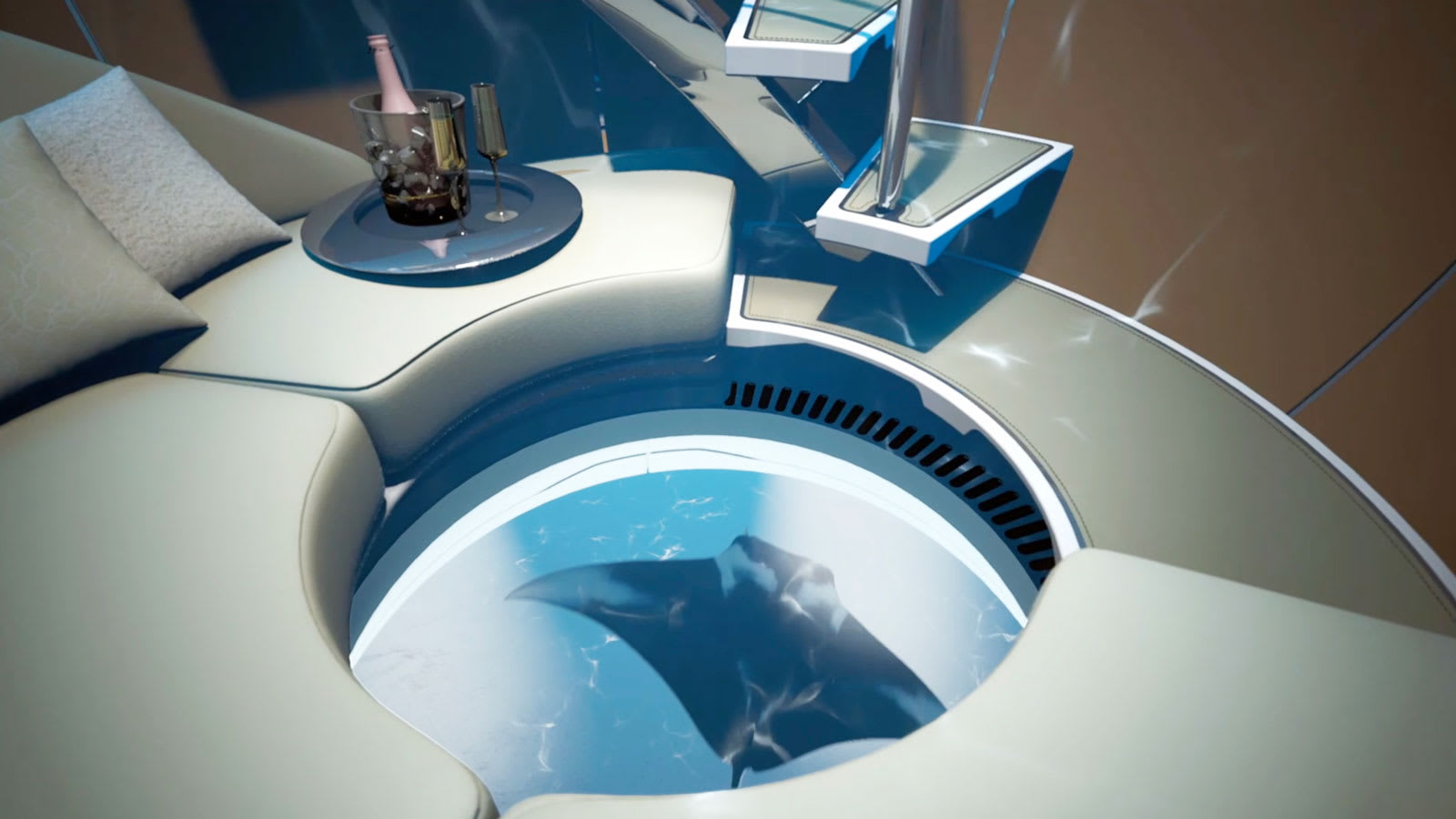 الكشف عن مفهوم جديد لنقل ركاب اليخوت الفائقة تحت الماء بدقائق