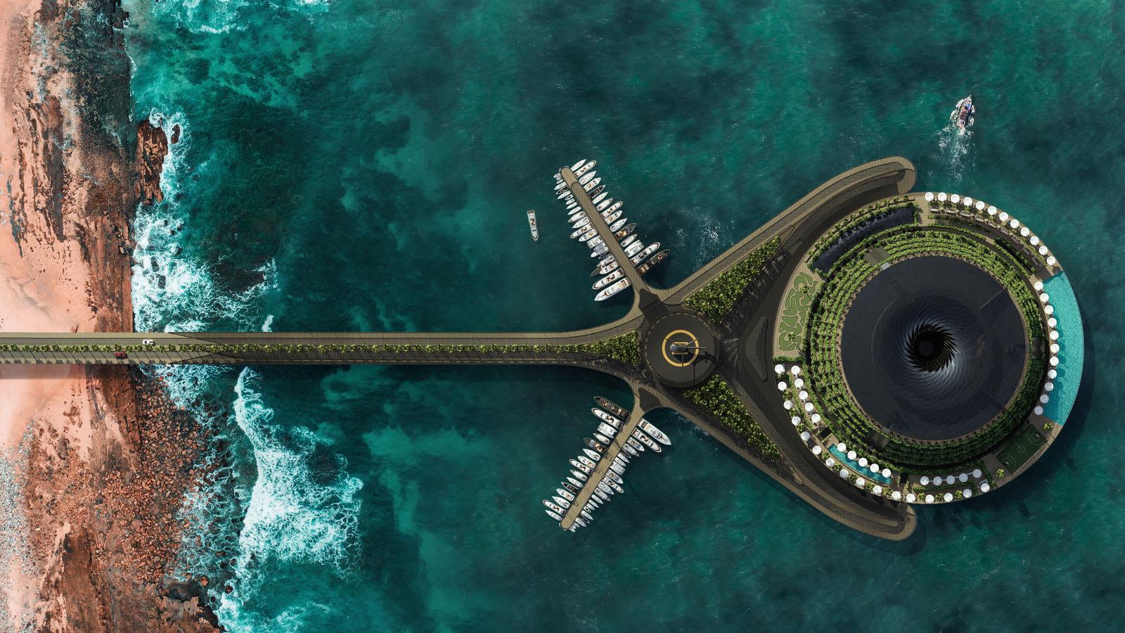 في قطر.. قد يتحول مفهوم لفندق عائم ودوّار يصنع الكهرباء الخاص به إلى حقيقة