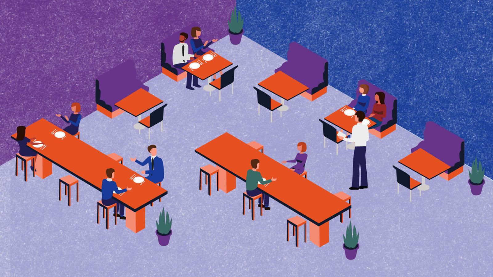 حيلة الذكية بأحد المطاعم لضمان التباعد الاجتماعي