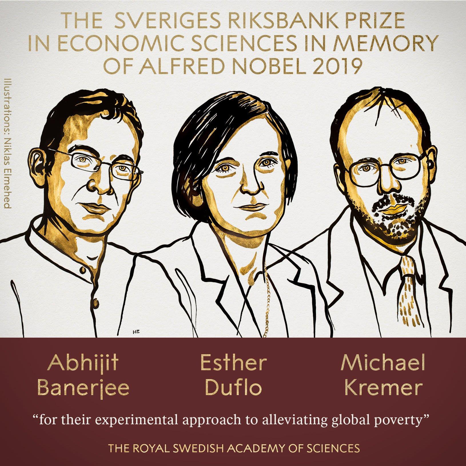 هندي وفرنسية وأمريكي يفوزون بجائزة نوبل في علوم الاقتصاد 2019