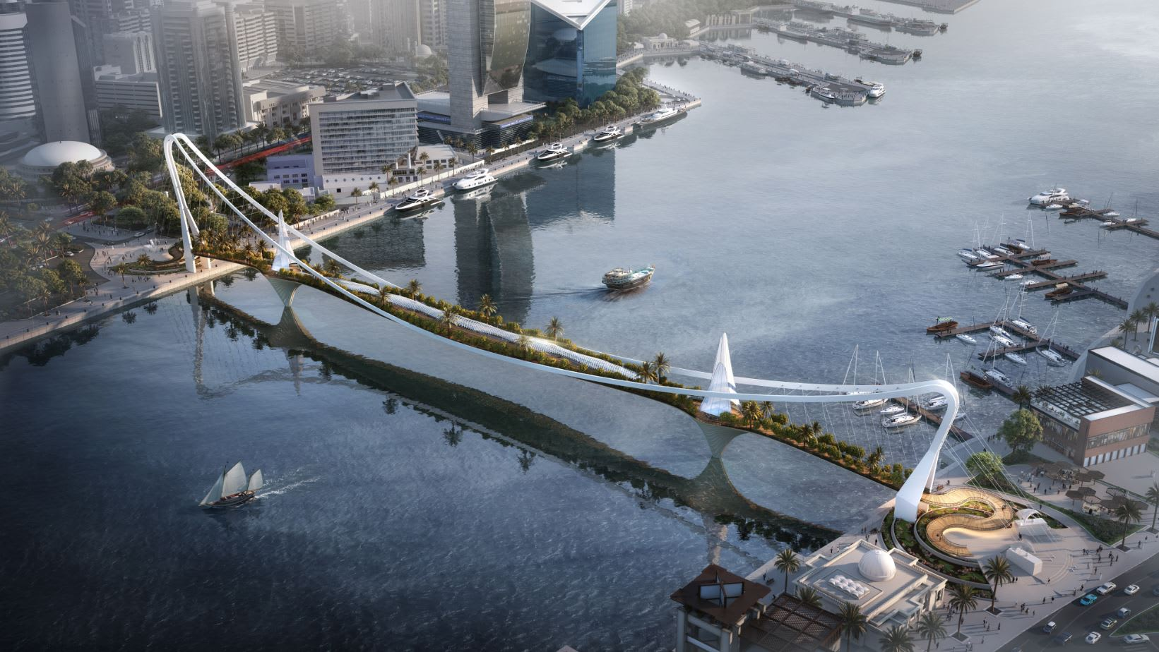 مستوحى من حديقة بابل المعلقة.. تعرف إلى جسر المشاة المبهر الذي تخطط دبي له