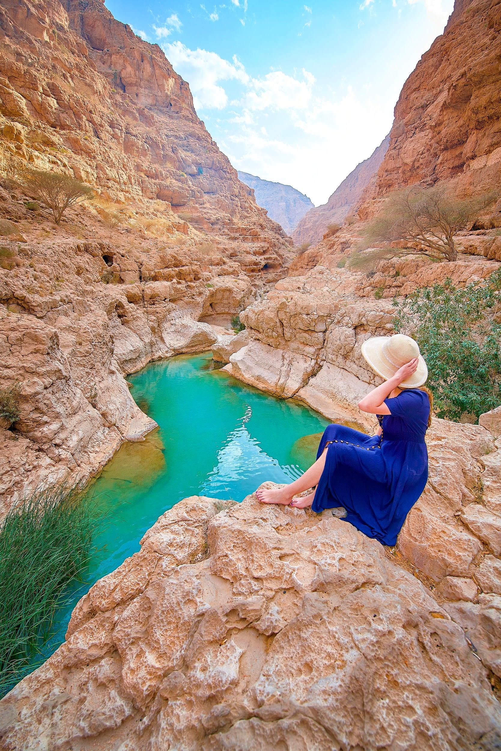 وادي شاب في سلطنة عمان